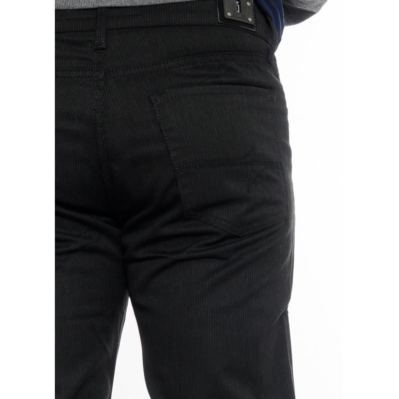 Джинсы (Брюки) мужские Franco Benussi 1051-925 в полоску черные