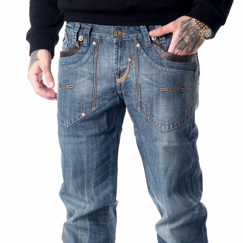Мужские джинсы Franco Benussi 1184 темно-синие