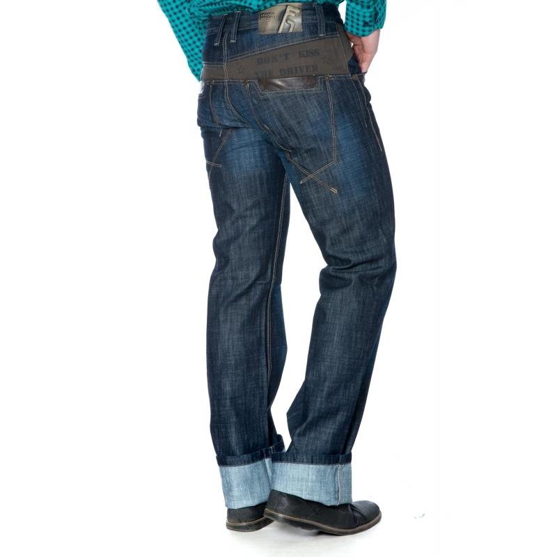 Стильные джинсы мужские Franco Benussi 1232 темно-синие