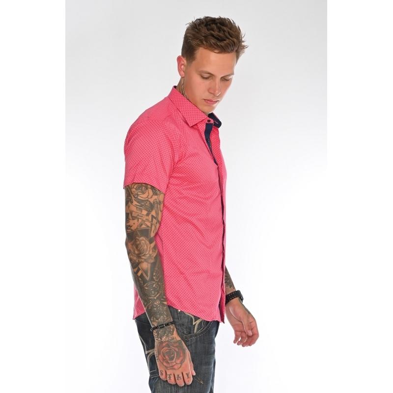 Рубашка мужская G 1238001 малиновая