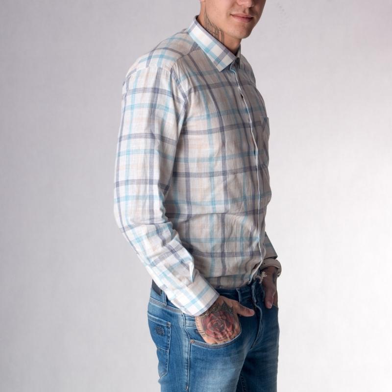 Рубашка в клетку мужеская G1266001
