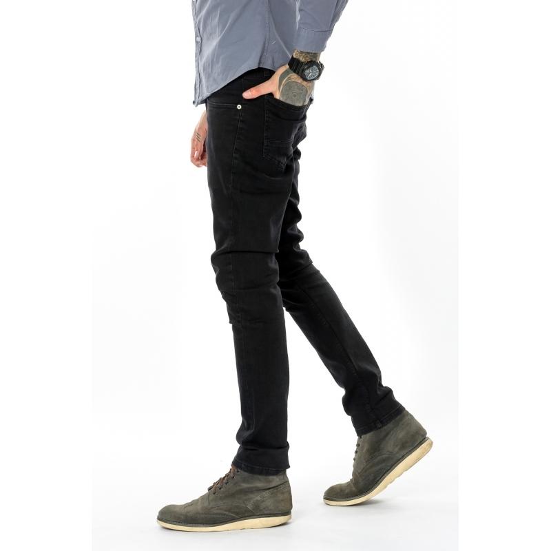 Узкие джинсы мужские Franco Benussi 18-755 Черный