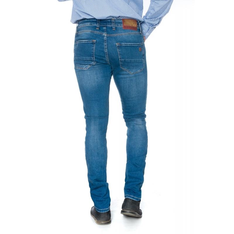 Barcelona - мужские джинсы зауженные 19-432 синие