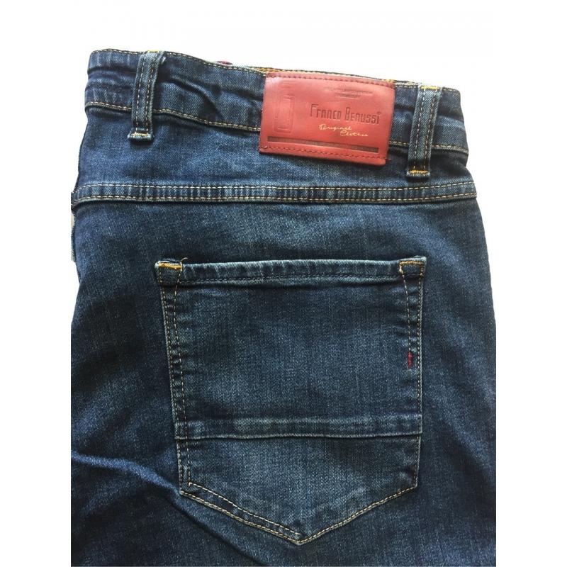Мужские джинсы супер больших размеров 19-453 темно-синие