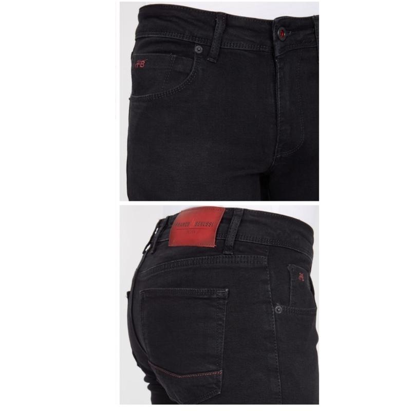 Зауженные джинсы мужские Franco Benussi 22-100 черные