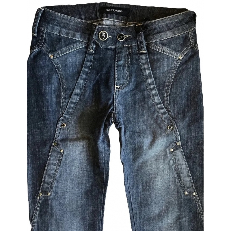 Джинсы женские OMAT jeans 9542-805 синие