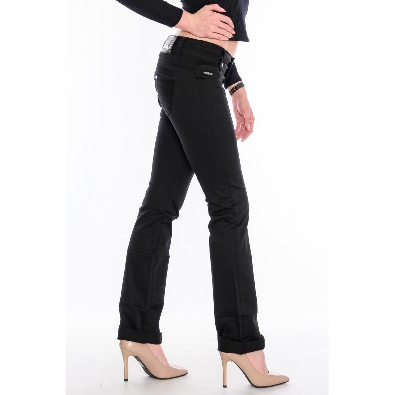 Женские джинсы OMAT 9611 черные