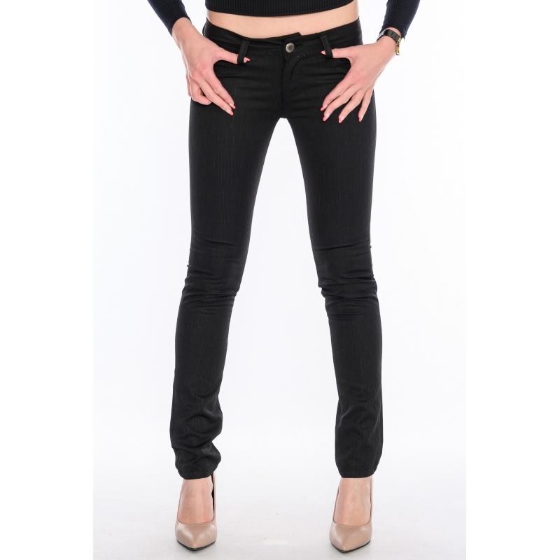 Зауженные джинсы в полоску OMAT 9808 черные