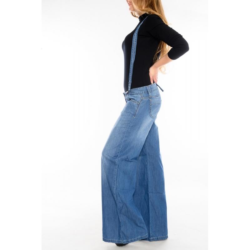 Женские джинсы-Трубы OMAT jeans 9922 синие
