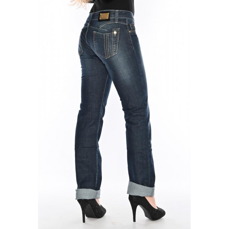 Женские джинсы  OMAT jeans 9591-804 синие