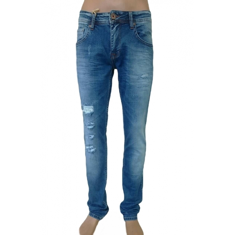 Barcelona- рваные мужские джинсы 17-140