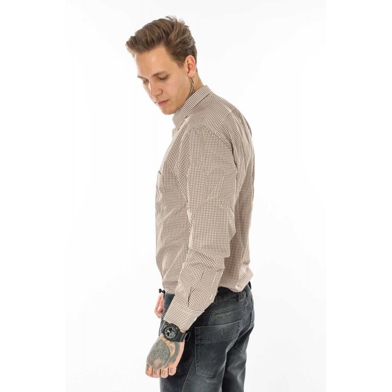 Рубашка мужская с длинным рукавом G 1207004 коричневая
