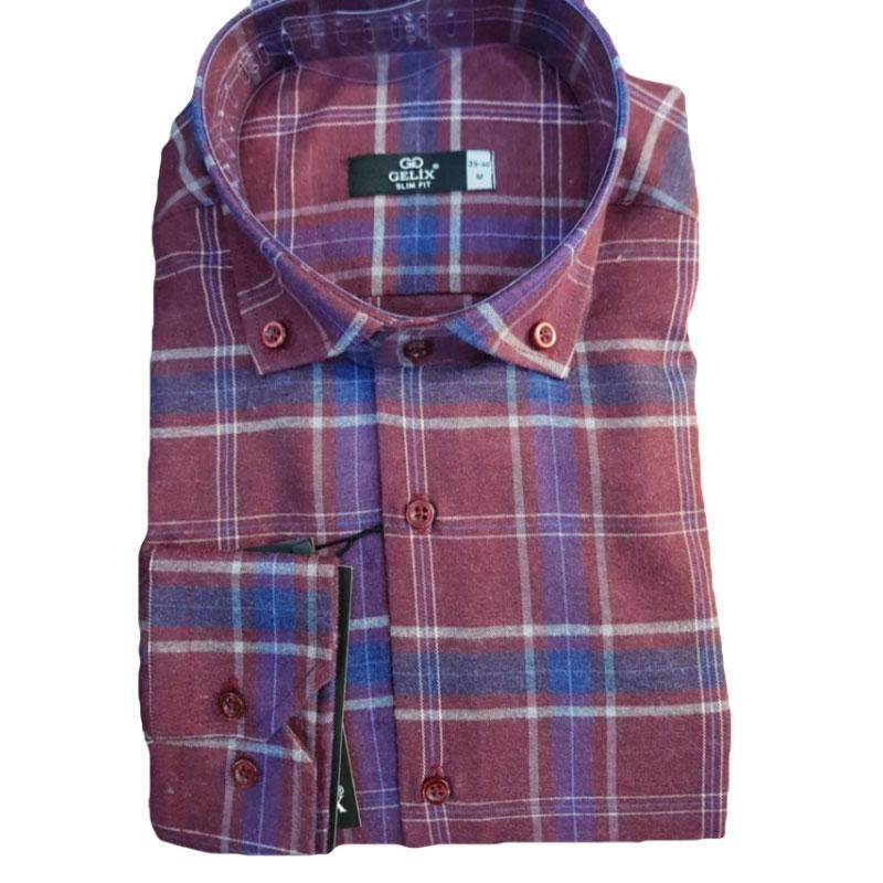 Рубашка в клетку мужеская 1274002