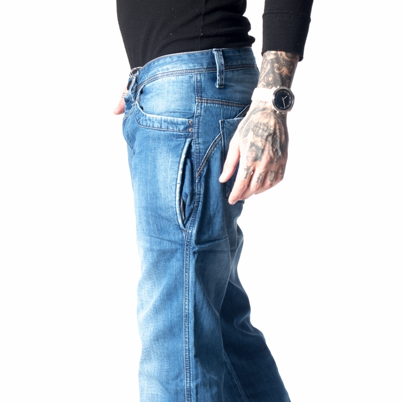 Стильные джинсы Franco Benussi 12-201 синие