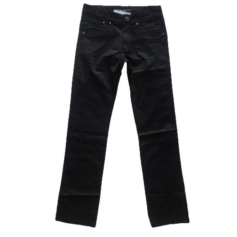 Батальные женские джинсы OMAT 9841 черные