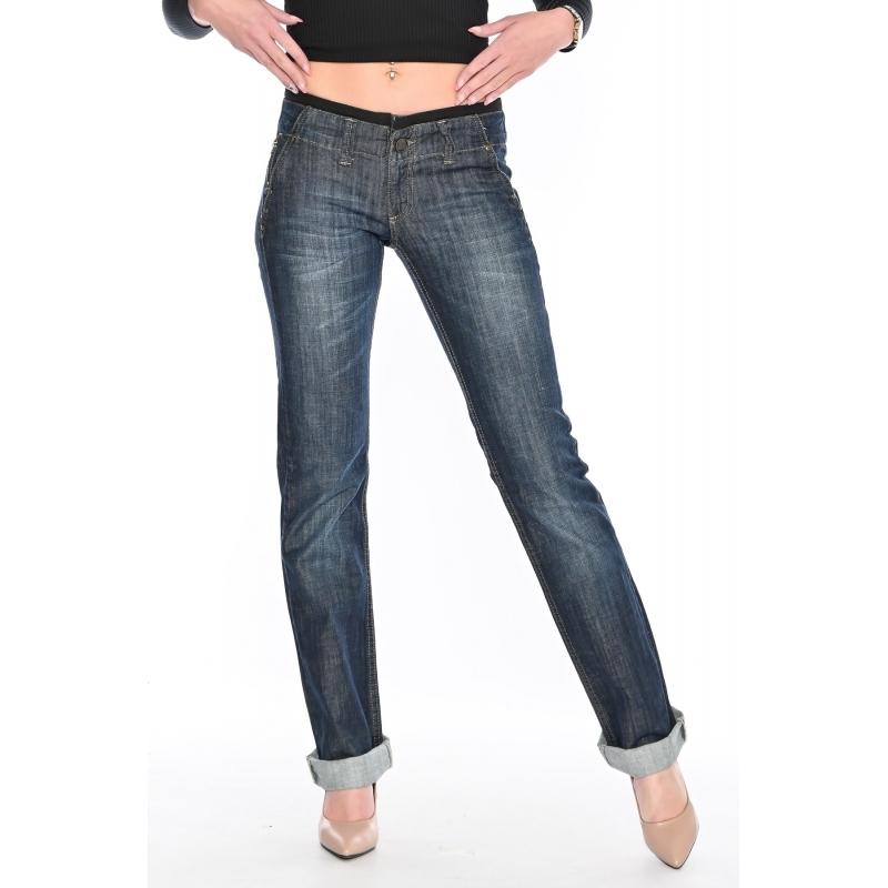 Джинсы женские OMAT 9520 синие