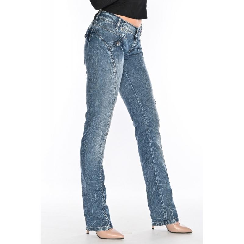 Женские джинсы OMAT 9628 синие