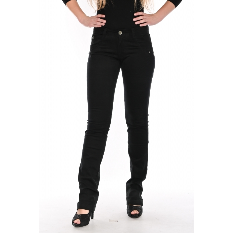 Стрейчевые брюки Омат jeans 9801-451 чёрные