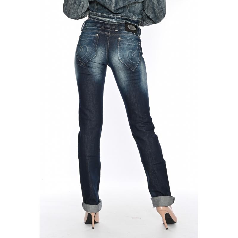 Джинсы женские OMATjeans 9571-803 синие