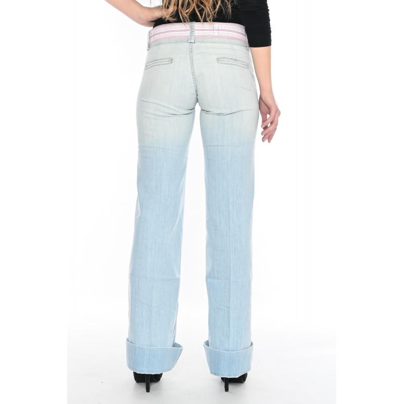 Широкие джинсы Омат 9512 голубык