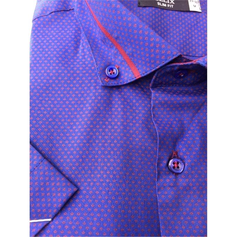 Рубашка мужская c коротким рукавом G 1229005 темно-фиолетовая