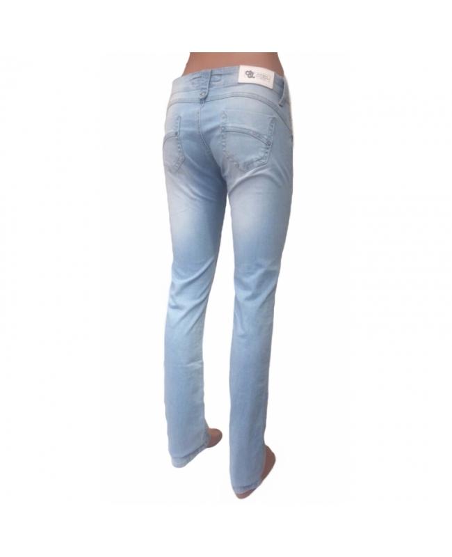 Летние джинсы женские Омат 9944 голубые