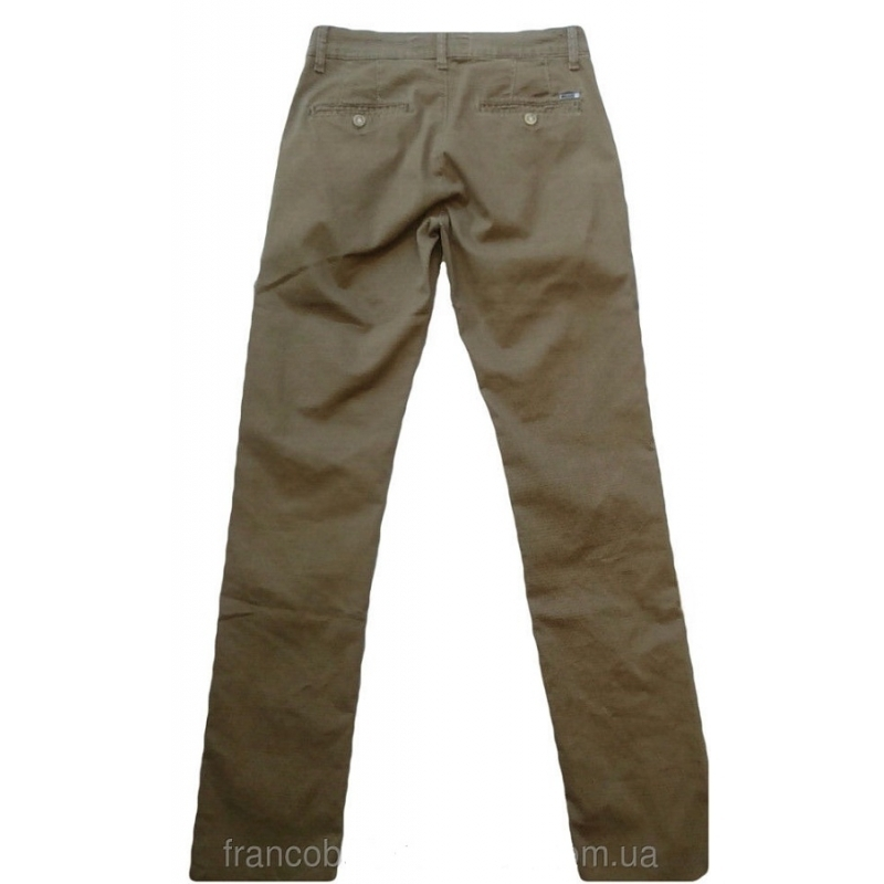 Мужские джинсы коричневые в уорах