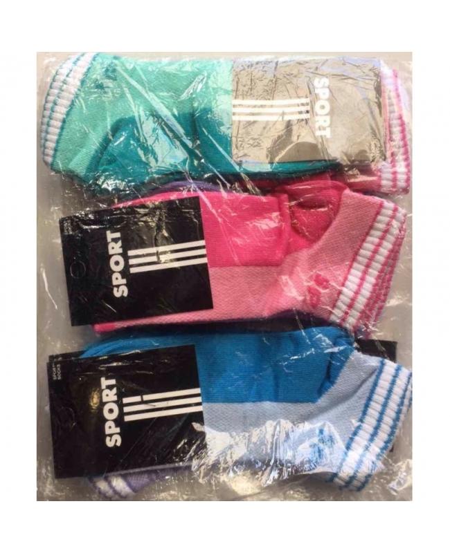 Носки спортивные в ассорти женские
