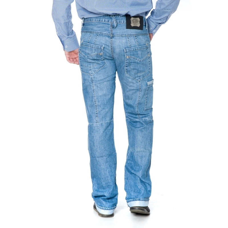 Стильные джинсы мужские Franco Benussi 1195 синие
