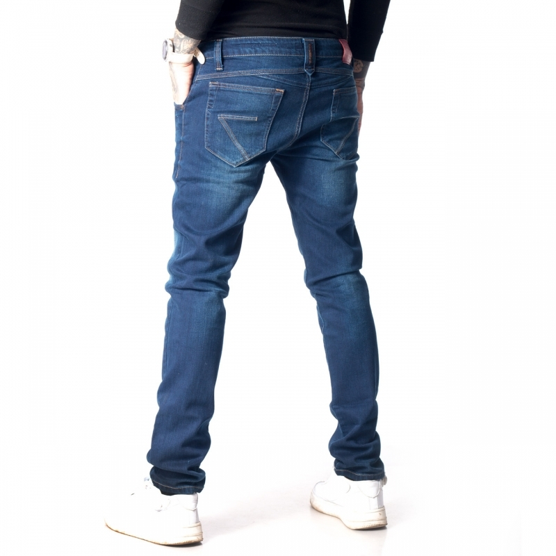 Джинсы узкие мужские Franco Benussi 13-038 синие