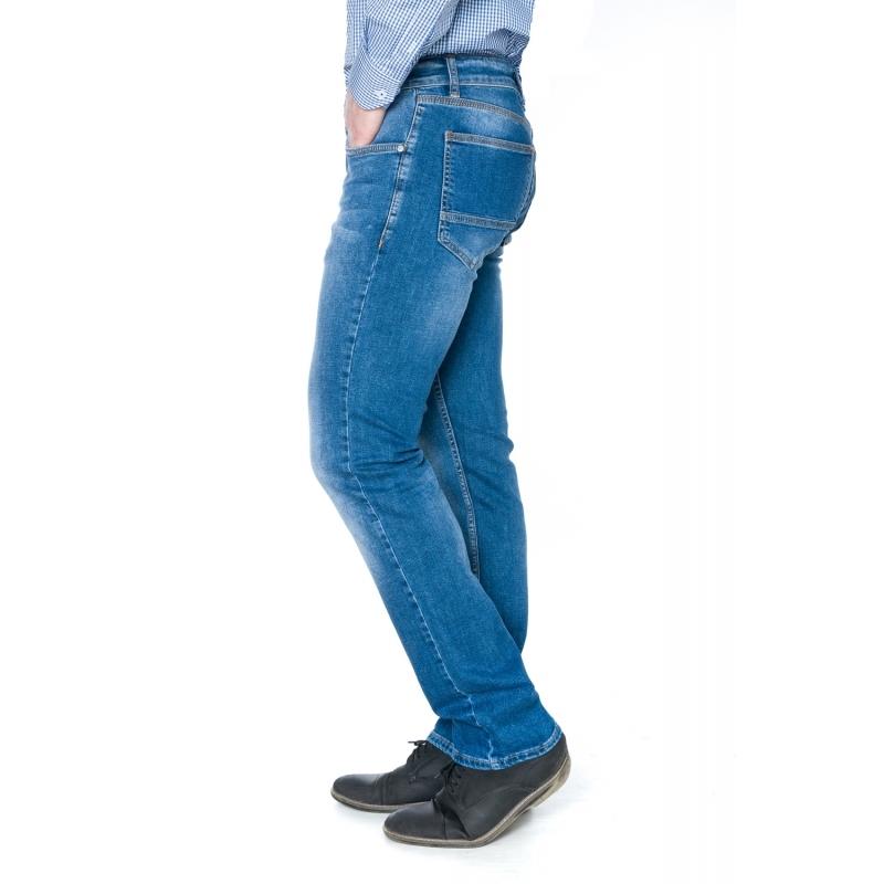 Джинсы зауженные от колена 19-431 синие