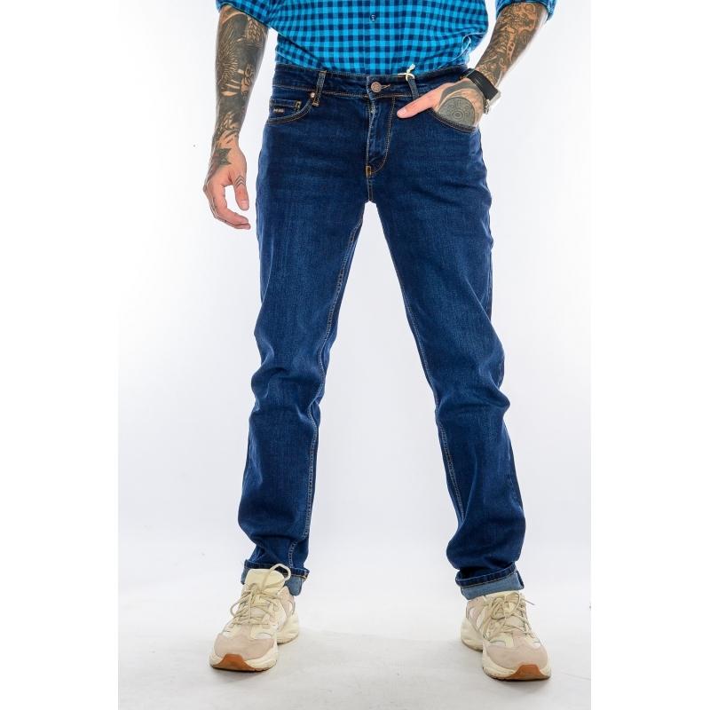 Джинси чоловічі на високий зріст 21-509 темно-сині