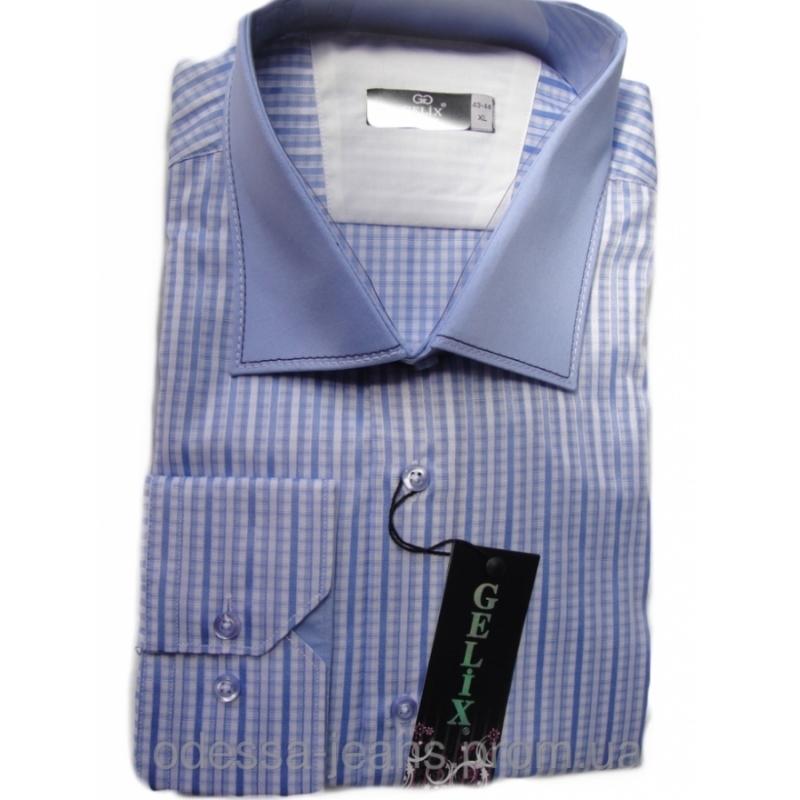 Рубашка с длинным рукавом в клетку - Gelix