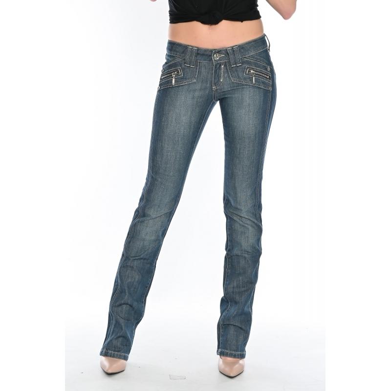 Джинсы женские OMAT jeans 9473-625 синие
