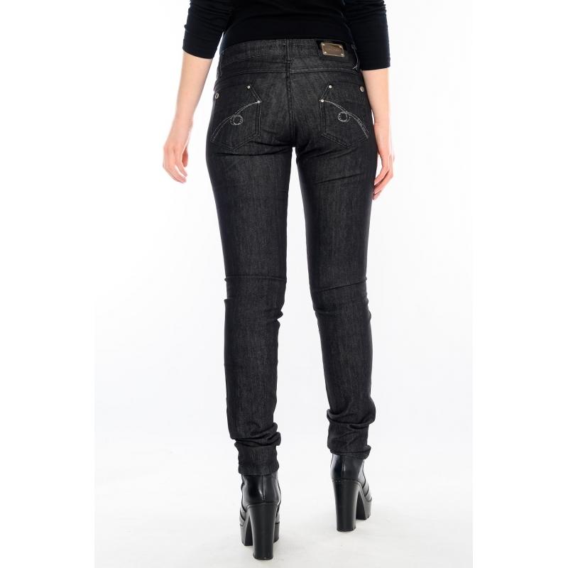Зауженные женские джинсы черные