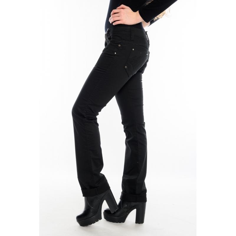 Женские джинсы OMAT 9616 черные