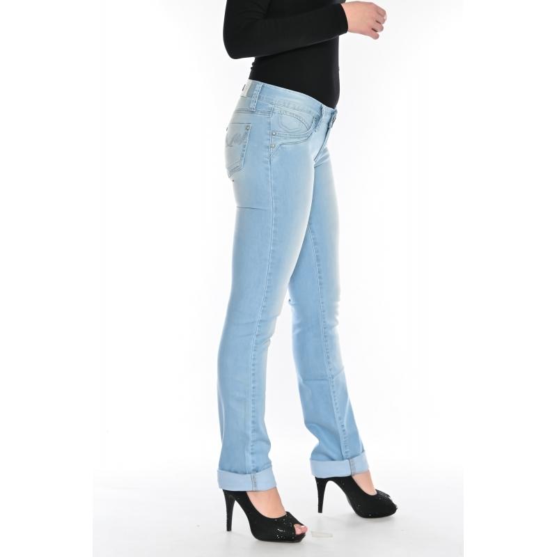 Джинсы женские Омат 9812 голубые