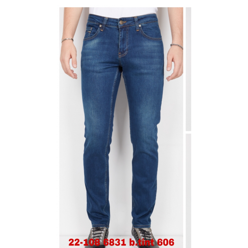 Мужские джинсы Franco Benussi 22-108 темно-синие