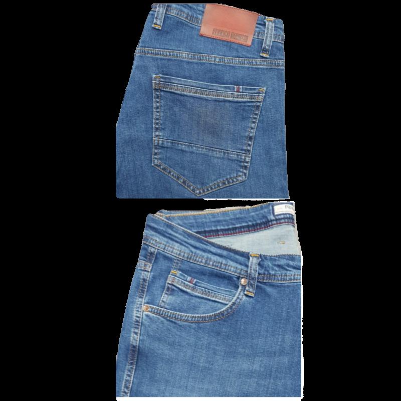 Джинсы Franco Benussi 21-616 батальные синие