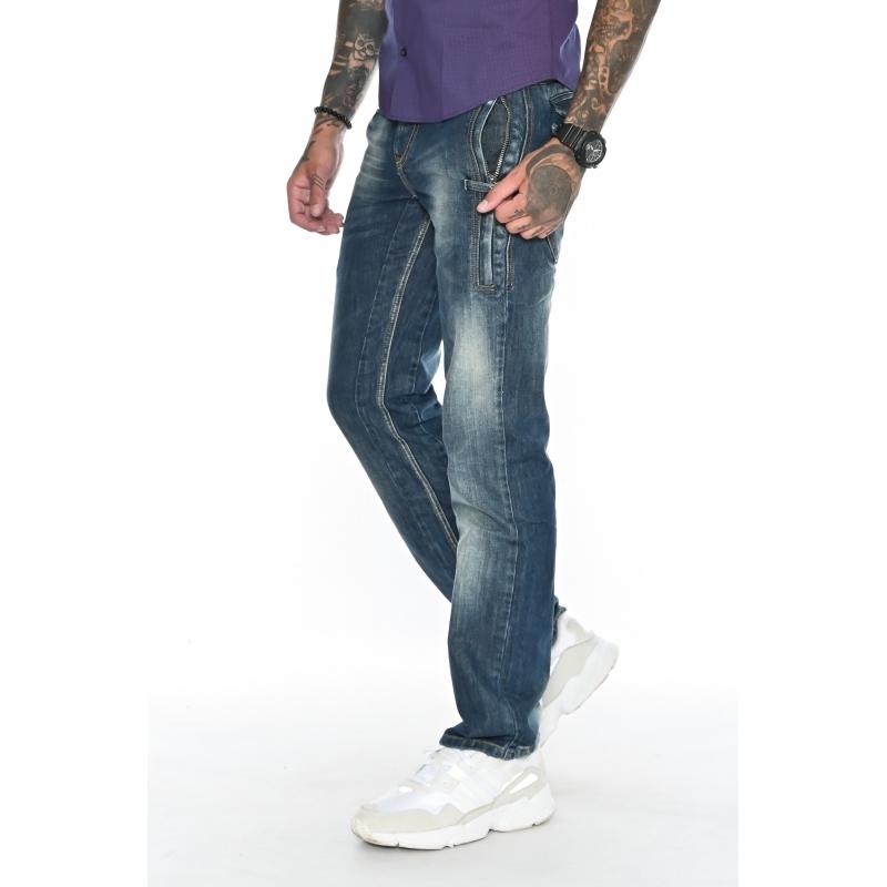 джинсы мужские Franco Benussi 1134 темно-синие