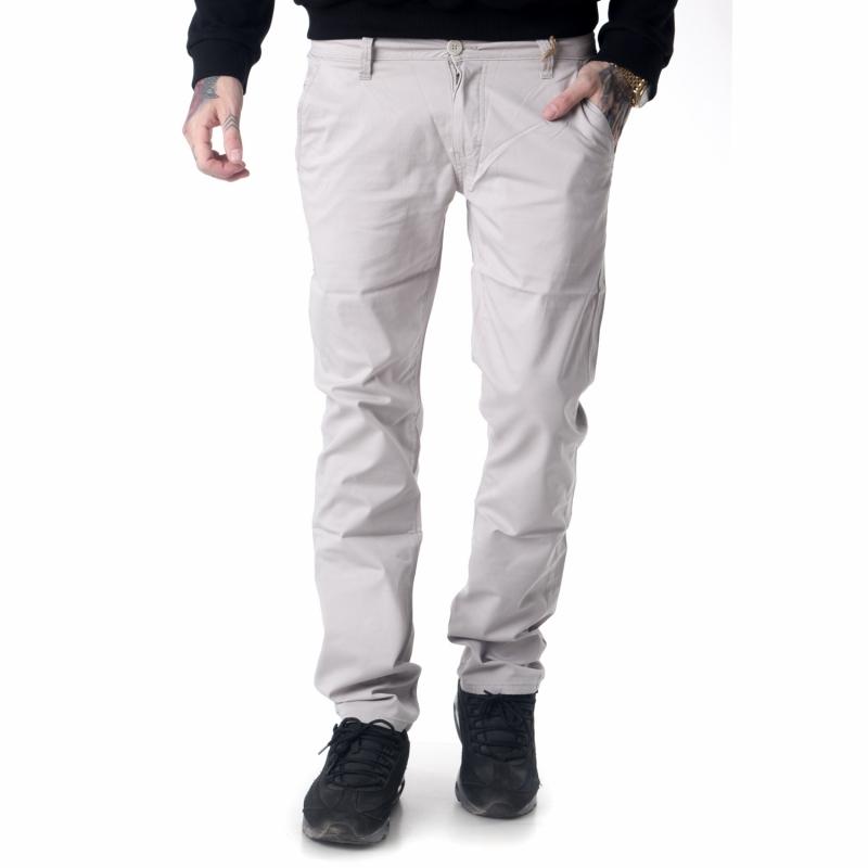 Мужские джинсы серые с косыми карманами