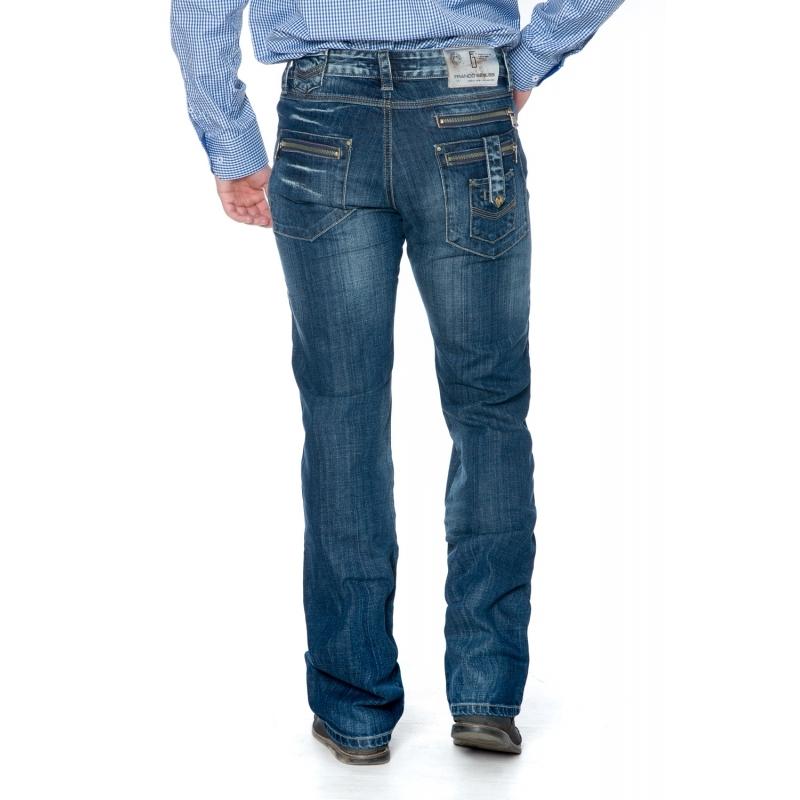 Мужские джинсы Franco Benussi 1102 синие