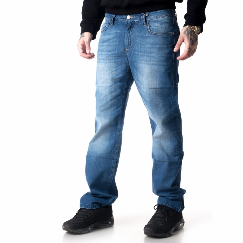Светло-синие джинсы мужские FB12116