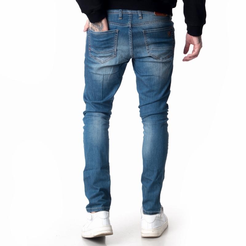 Джинсы мужские зауженные 18-108 синие