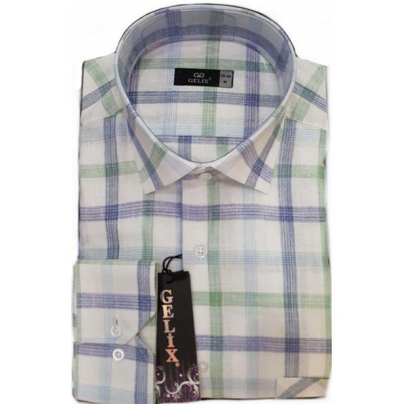 Рубашка в клетку мужеская 1266001
