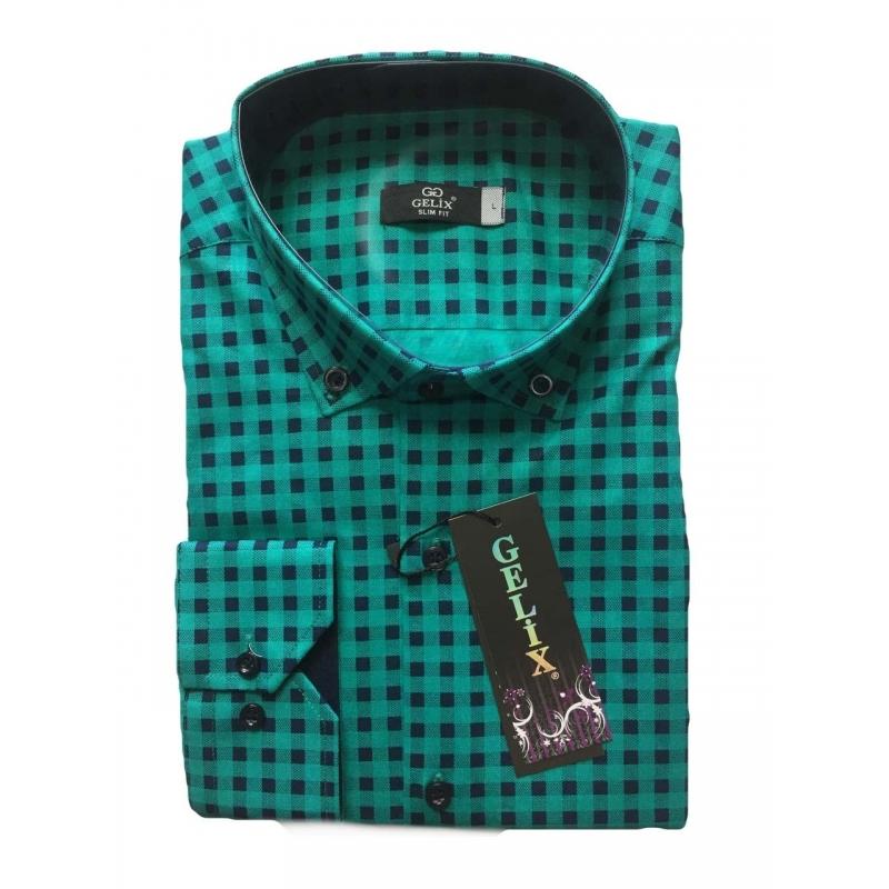 Рубашка мужская GELIX 1276002 с длинным рукавом