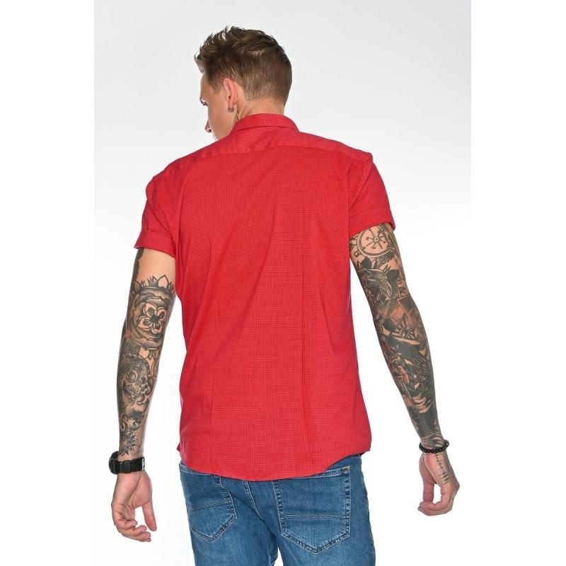 Мужская рубашка 1226003 красная