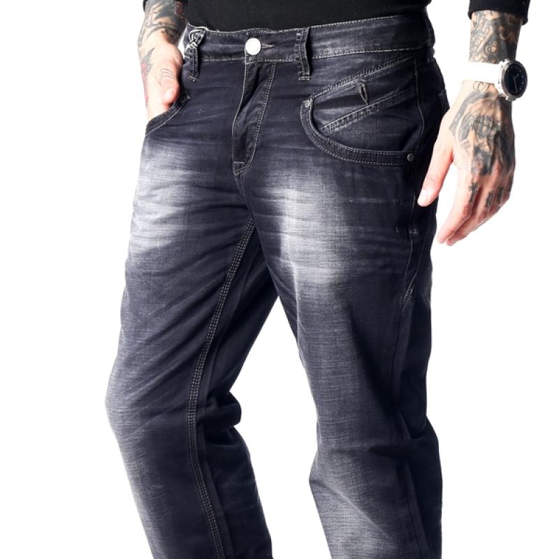 Тёмно-серые мужские джинсы летние