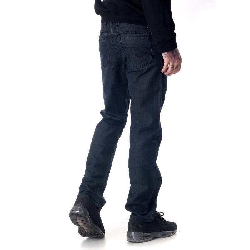 Джинсы Franco Benussi 600-712 с косыми карманами черные