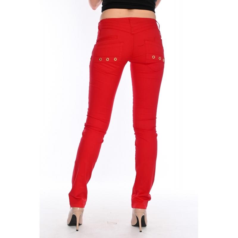 Женские брюки OMATjeans 9397-442 красные
